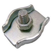Зажим для стальных канатов SIMPLEX одинарный оц. №4 фото