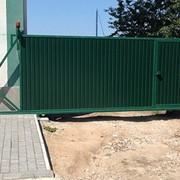 Ворота откатные (сдвижные) механические фото