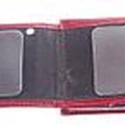 """Обложка на удостоверение с жетоном """"Полиция"""" бордовая фото"""