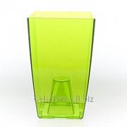 """Горшок пластиковый """"Финезия"""" (зеленый прозрачный) 3779 фото"""