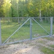 Ворота из сетки рабица 1.8м х 3м фото