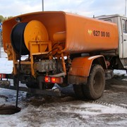 Прочистка канализационных систем.гидродинамика фото