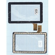 Сенсорное стекло (тачскрин) YDT1143-A2 черное, Диагональ 9 фото