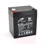 Аккумуляторная батарея AGM RITAR RT1250B, Black Case, 12V 5.0Ah ( 90 х70 х 101 (107) ) Q10 фото