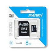 Карта памяти SmartBuy 8Gb microSD Class 10 фото
