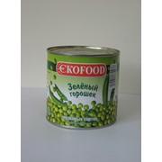 Горошек консервированный зеленый фото