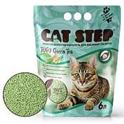 Наполнитель Cat Step Tofu Green Tea 6л, растительный комкующийся фото