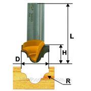 Фреза пазовая фасонная ф25.4 х16, r5.6, хв.12мм (арт.10634) фото