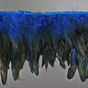 Перо-юбка синяя с черными хвостиками 15-20см/48-50см 570823 фото