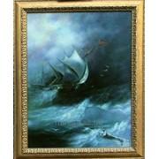 Живопись Бушующее море фото