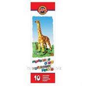 Пластилин Koh-I-Noor Жираф, 10 цветов (131504) фото