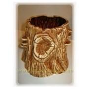 Цветочный горшок Пенёк коричневый фото