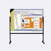 Доска Интерактивная Электронная (настенная и на подставке с роликами).Керамическая поверхность 120х180см.Управляется компьютером и электронным пером. фото