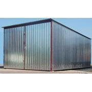 Металлический односкатный гараж 5х6м фото