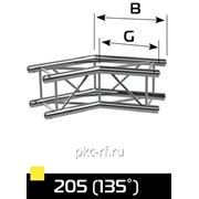 2-х сторонний угловой блок с углом 135 гр.17,6кг К4-520PL-205Х фото