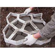 """Форма для садовой дорожки """"Круглые камни"""" 9 камней 44 х 44 фото"""