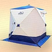 Палатка зимняя куб Следопыт 1,5х1,5х1,7 м, 2-местная, ткань Oxford 240D PU 2000, бело-синяя фото