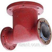 Подставка под гидрант пожарный фланцевая двойная (проходная) ППФД Ду-100 фото