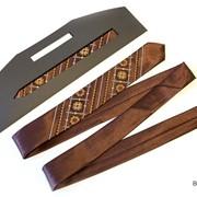Вузький галстук з вишивкою Веселан 3874 фото