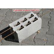 Блоки стеновые БЛОК СТАНДАРТНЫЙ БЕТОННЫЙ М75 (390Х190Х190) фото