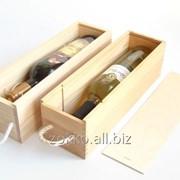 Упаковка для вина с ручкой ,фанера 8мм и 4мм фото