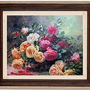 """Картина Альберт де Лаво """"Розы"""" 67х57см. арт.1221-14 Dekor Toskana фото"""