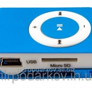 Мр3 плеер дизайн iPod Shuffle + наушники + кабель + коробка Blue фото