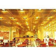 Ячеистый потолок Грильято 100х100 н=40 золото фото