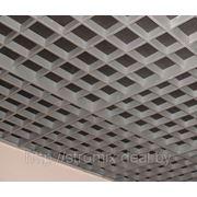 Грильято 120х120 н=40 алюминий серебристый (серый) фото