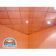 Кассетный потолок цвет золото и суперхром фото