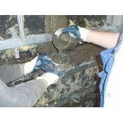 Восстановление нарушенной гидроизоляции фундаментов методом шпурения фото