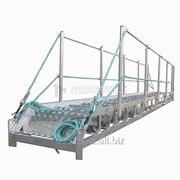 Трап-сходня алюминиевая с эвольвентными ступенями ТСА - 9х600 фото