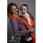 Слинг с кольцами для новорожденных и старше тм Наш слинг Оранж фото