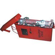 Рукав пожарный с гайкой и стволом в специальном шахтовом контейнере КПР-2 фото