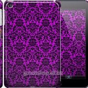 Чехол на iPad mini 3 фиолетовый узор барокко 1615c-54 фото