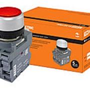 Кнопка с фиксацией MP2-21R(LED) в сборе d22мм/24В 1з+1р красная TDM фото