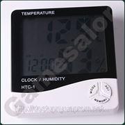 Термометр электронный гигрометр часы с будильником и календарем настольный настенный фото