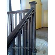Вариант ограждения лестницы фото