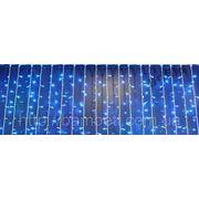 Гирлянда светодиодная штора занавес 480 LED синяя фото