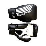 Перчатки боксерские Leader 8 унций, черный фото