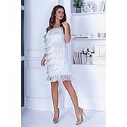 Платье женское бахрома FL/-1445 - Белый фото