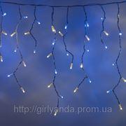 """СВЕТОДИОДНАЯ ГИРЛЯНДА """"БАХРОМА 5*0.5м"""", каучуковый (Rubber) кабель, цвет бело-голубой фото"""