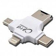 iDragon Card Reader 4 в 1 lngelon iDragon Type-c / Micro USB / Lightning Белый фото