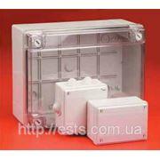Распределительные коробки с пластиковыми фиксаторами крышки фото
