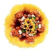 Букет из мягких игрушек Апельсиновый рай 4043 фото