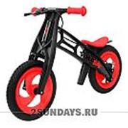 Велобалансир-беговел Hobby-bike FLY В черная оса Plastic red/black В-шины волна фото