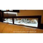 Сухой аквариум в полу, барной стойке фото