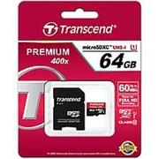 Карта памяти Transcend 64Gb microSDXC Class 10 фото