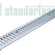 Решетка водоприемная Basic стальная оцинкованная (щелевая) с отвертием под крепеж 1000.136.23 А15 фото