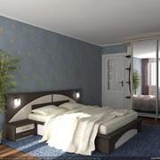 Кровать двухспальная с изголовьем фото